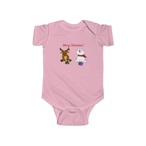 Have A Beary Deer Christmas Infants Unisex Bodysuit!