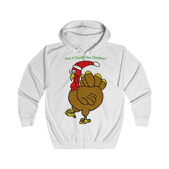Have A Cruelty Free Christmas Adults Unisex Full Zip Hoodie!