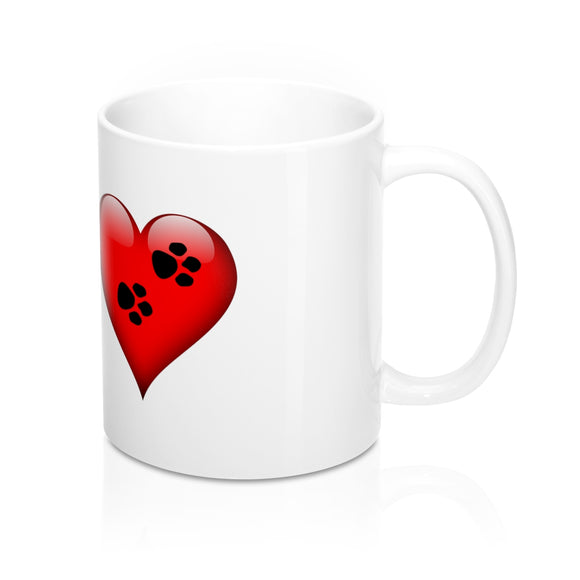 Pawprints On The Heart Mug!