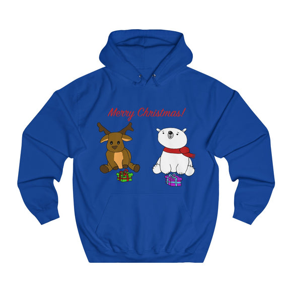 Have A Beary Deer Christmas Adults Unisex Hoodie!