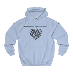 Dogs Are A Girl's Bestfriend Adults Unisex Hoodie!