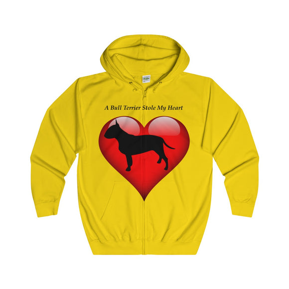 Bull Terrier Adults Unisex Full Zip Hoodie!