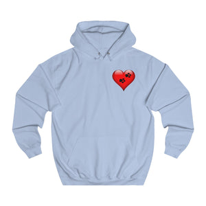 Pawprints On The Heart Adults Unisex Hoodie!