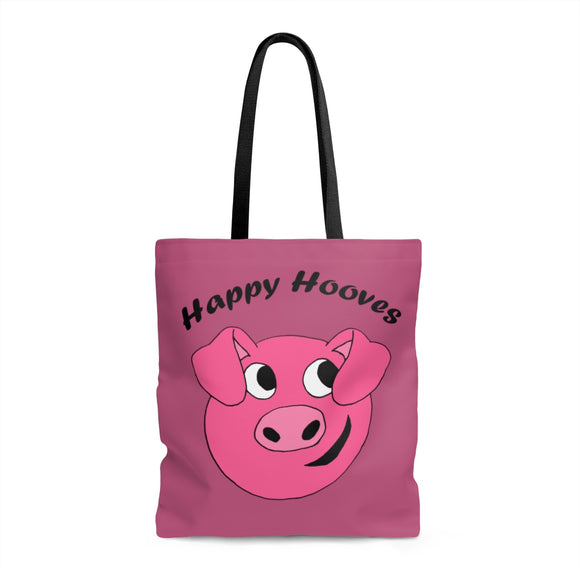 Happy Hooves Dark Pink Tote Bag