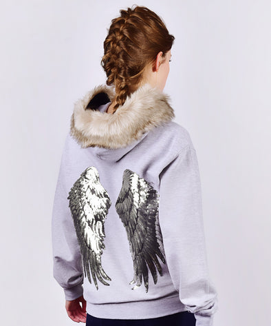 Angel Hoodie - Heather Grey
