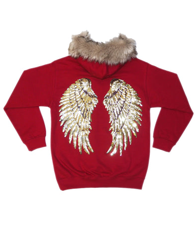 Angel Hoodie - Chilli Red