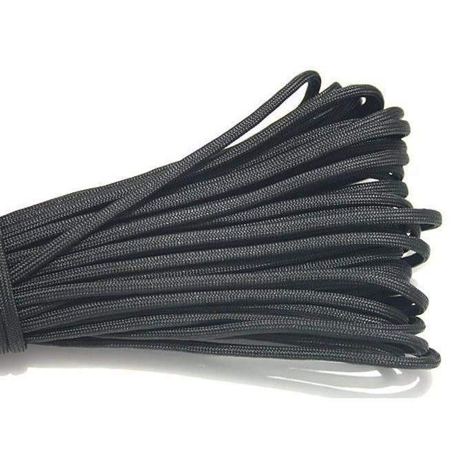 550 Type III Paracord Made in USA - 100 ft - BLACK