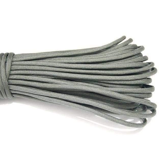 550 Type III Paracord Made in USA - 100 ft - Silver