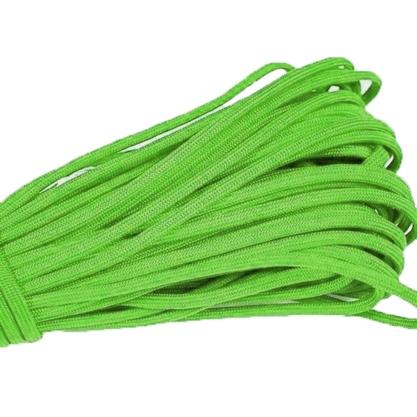 550 Type III Paracord Made in USA - 100 ft - SAFETY GREEN