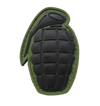 Grenade PVC Morale Patch - Black