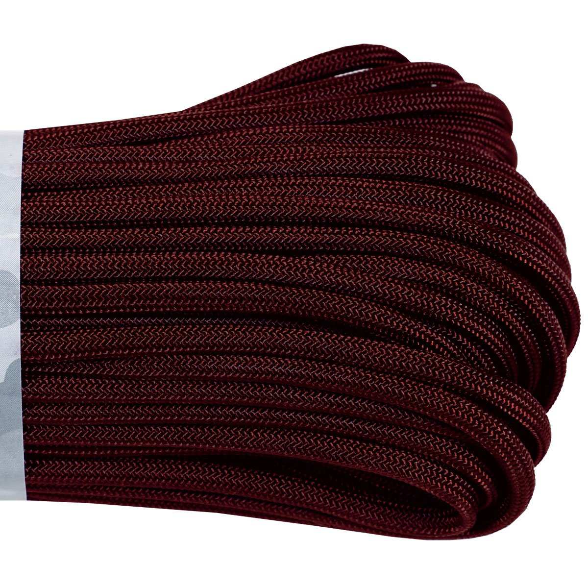 550 Type III Paracord Made in USA - 100 ft - Maroon