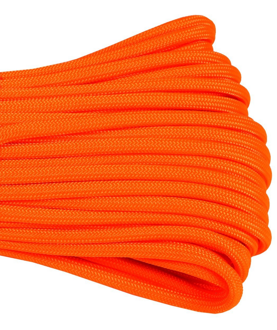 550 Type III Paracord Made in USA - 100 ft - SAFETY ORANGE