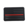 American Flag With Thin Red Line PVC Morale Patch