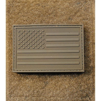 American Flag - All Brown PVC Morale Patch
