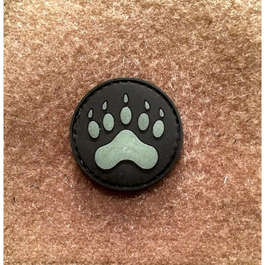Glow in Dark BEAR CLAW PVC Morale Patch