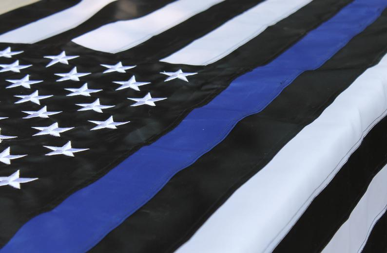 Deluxe Embroidered Thin Blue Line American Flag