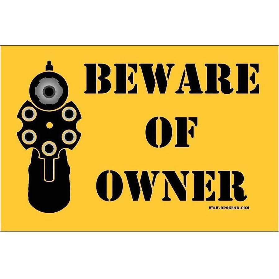 "OPSGEAR Beware of Owner Decal - 4"" x 6"""