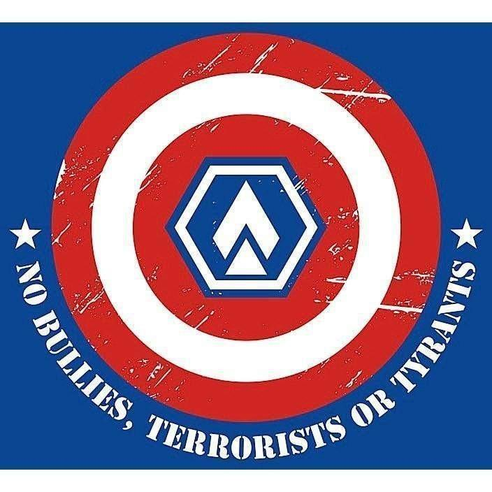 "OPSGEAR No Bullies, Terrorists or Tyrants Decal - 3"" x 3"""