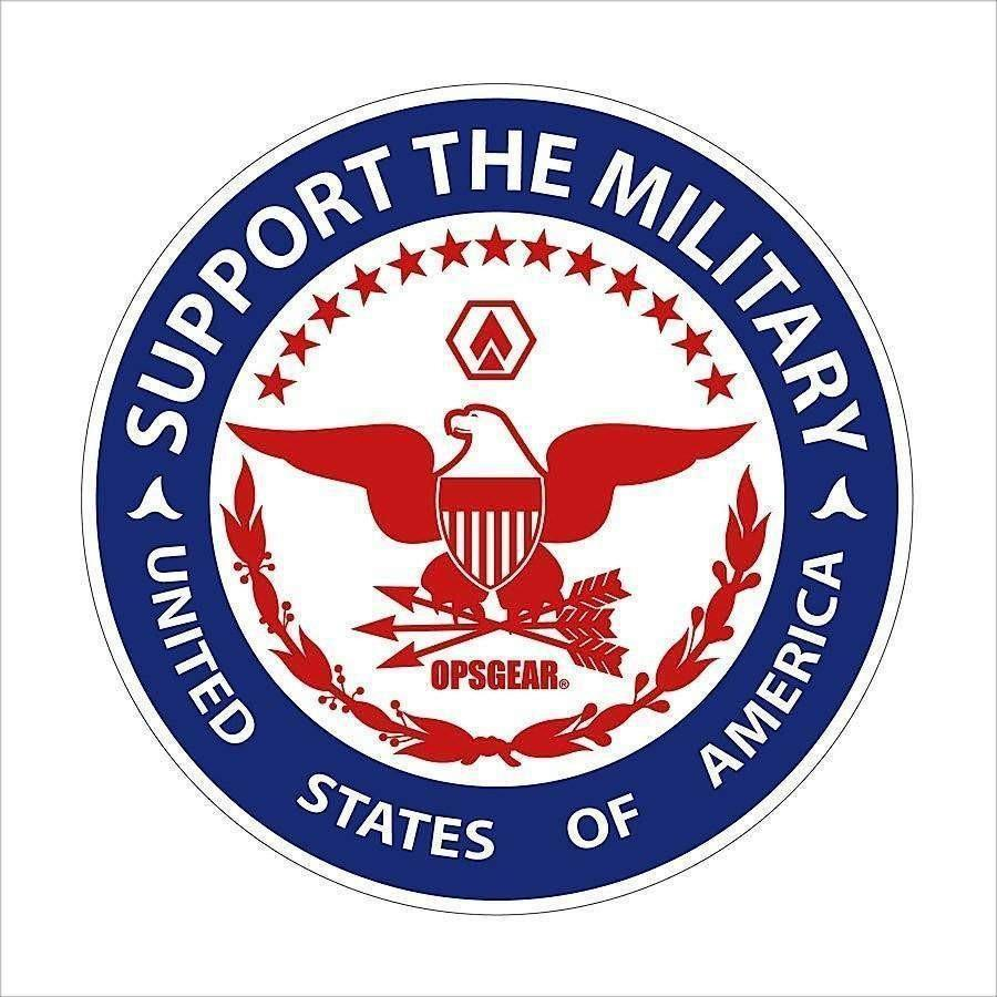 "OPSGEAR Support Military Decal - 3"" x 3"""