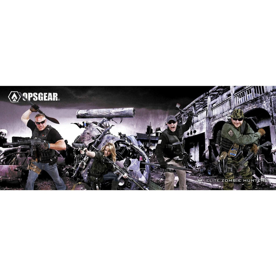 "OPSGEAR ZOMBIE Hunter Diorama Decal - 12"" x 4.5"""