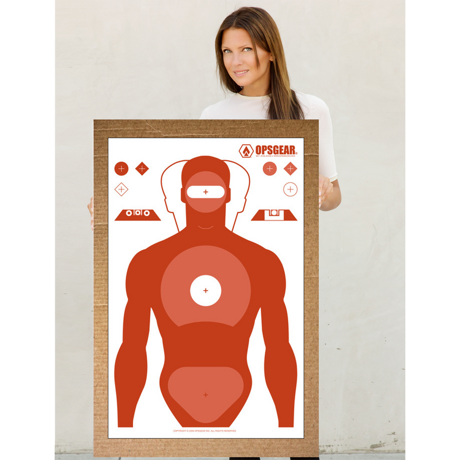 OPSGEAR® RED Silhouette Target
