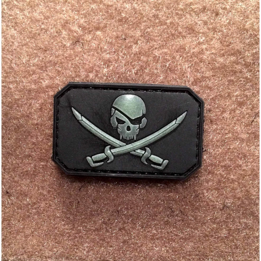 Pirate SKULL Glow in Dark PVC Morale Patch