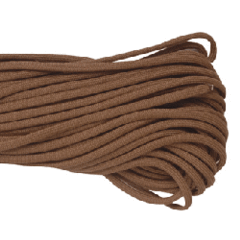 550 Type III Paracord Made in USA - 100 ft - Brown