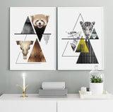 Triangles Abstract - Nature Tiger Art Print - Rock Salt Prints Inc