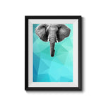 Elephant 003 Blue Abstract Art Print - Rock Salt Prints Inc