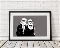 A Stormy Affair Stormtrooper Art Print - Rock Salt Prints Inc