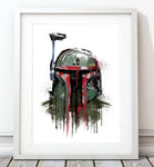 Dripping Boba Fett - Star Wars Inspired Art Print - Rock Salt Prints Inc