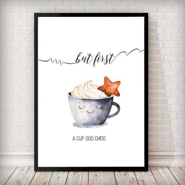 A Cup ooo Chino Art Print - Rock Salt Prints Inc