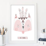 Be Kind Fox - Girl Nursery Art Print - Rock Salt Prints Inc