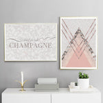 But First Champagne Marble Art Print - Rock Salt Prints Inc