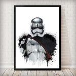 Dripping Captain Phasma Art Print - Rock Salt Prints Inc
