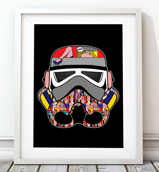 Stormtrooper Helmet Collection - Pop Art Print - Rock Salt Prints Inc