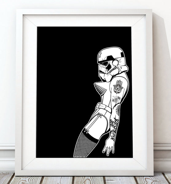 Vogue One Portrait - Star Wars Inspired Art Print - Rock Salt Prints Inc
