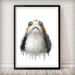 Dripping Porg Art Print - Rock Salt Prints Inc