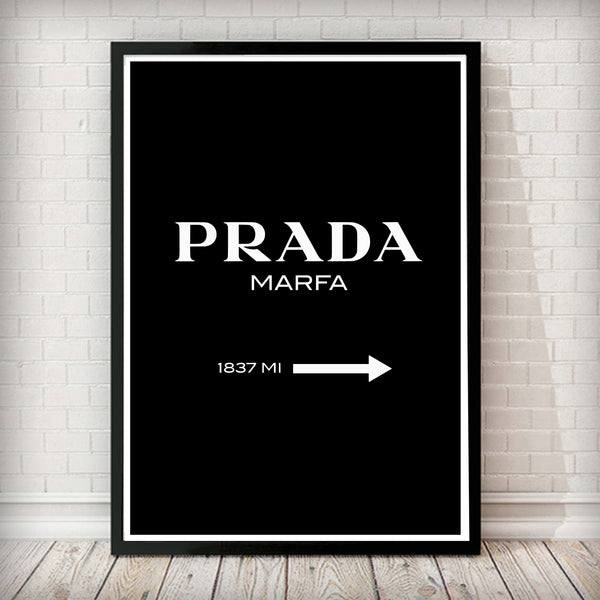 Prada Marfa - Black Art Print - Rock Salt Prints Inc