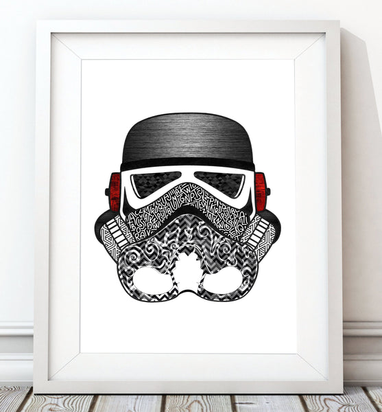 Stormtrooper Helmet Collection - Metal Print - Rock Salt Prints Inc