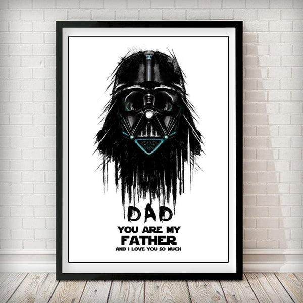 You are my father  - Darth Vader Art Print - Rock Salt Prints Inc
