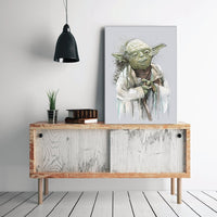 Dripping Yoda - Star Wars Inspired Art Print - Rock Salt Prints Inc