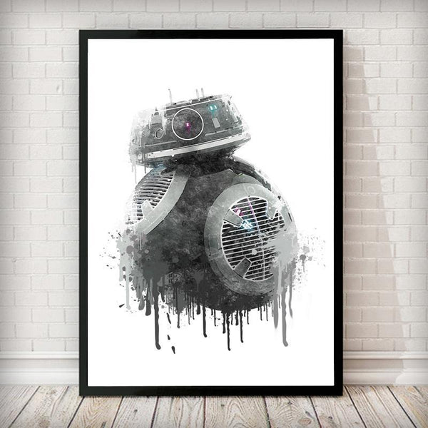 Dripping BB-9E Droid Art Print - Rock Salt Prints Inc