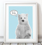 Baby Polar Bear 003 Art Print - Rock Salt Prints Inc