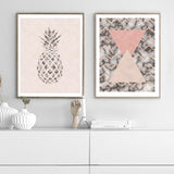 Pineapple Blush Pink Art Print - Rock Salt Prints Inc