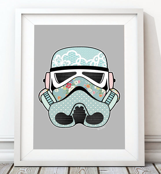 Stormtrooper Helmet Collection - Vintage 003 Print - Rock Salt Prints Inc