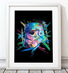 Crayon Style Stormtrooper Blue - Star Wars Inspired Art Print - Rock Salt Prints Inc