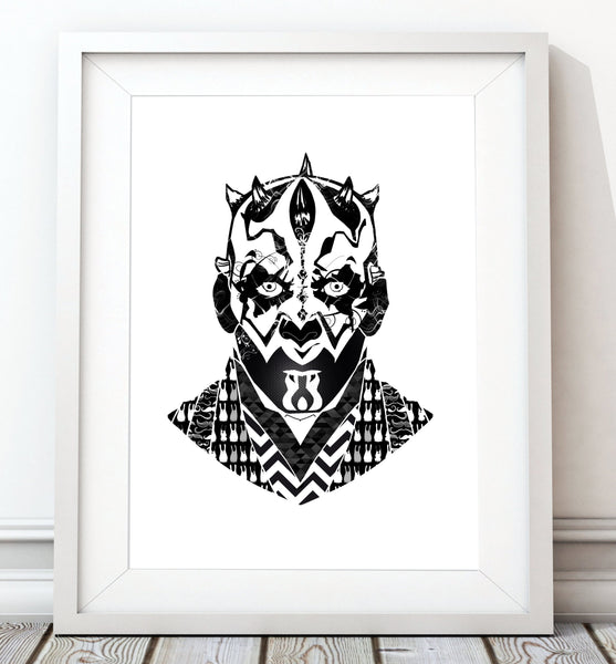 Star Wars Classic Collection - Darth Maul Print - Rock Salt Prints Inc