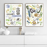 Vegetables Green Art Print - Rock Salt Prints Inc