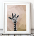 Giraffe Natural 001 Art Print - Rock Salt Prints Inc